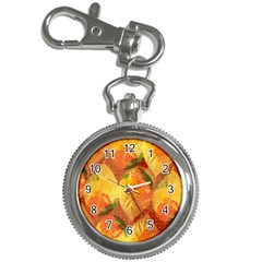 Fall Colors Leaves Pattern Key Chain Watches by DanaeStudio