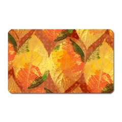 Fall Colors Leaves Pattern Magnet (rectangular) by DanaeStudio