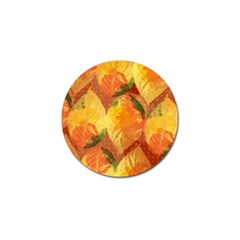 Fall Colors Leaves Pattern Golf Ball Marker (4 Pack) by DanaeStudio