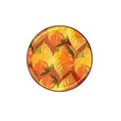 Fall Colors Leaves Pattern Hat Clip Ball Marker (4 Pack) by DanaeStudio