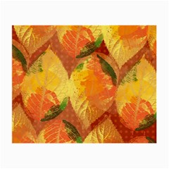 Fall Colors Leaves Pattern Small Glasses Cloth by DanaeStudio