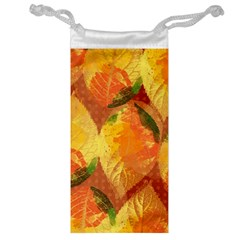 Fall Colors Leaves Pattern Jewelry Bags by DanaeStudio