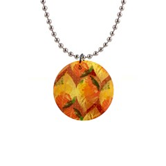 Fall Colors Leaves Pattern Button Necklaces by DanaeStudio