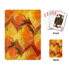 Fall Colors Leaves Pattern Playing Card by DanaeStudio