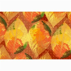 Fall Colors Leaves Pattern Collage Prints by DanaeStudio
