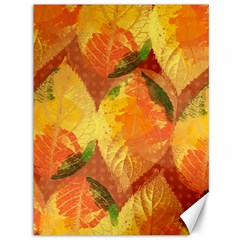 Fall Colors Leaves Pattern Canvas 36  X 48   by DanaeStudio