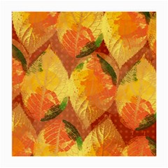 Fall Colors Leaves Pattern Medium Glasses Cloth by DanaeStudio