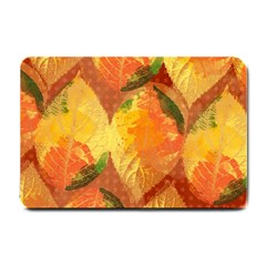 Fall Colors Leaves Pattern Small Doormat  by DanaeStudio
