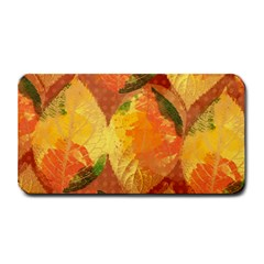 Fall Colors Leaves Pattern Medium Bar Mats by DanaeStudio