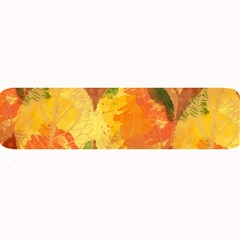 Fall Colors Leaves Pattern Large Bar Mats by DanaeStudio
