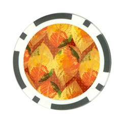 Fall Colors Leaves Pattern Poker Chip Card Guards by DanaeStudio