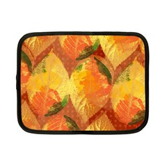 Fall Colors Leaves Pattern Netbook Case (small)  by DanaeStudio