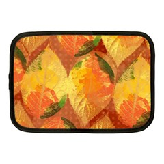 Fall Colors Leaves Pattern Netbook Case (medium)  by DanaeStudio