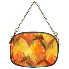 Fall Colors Leaves Pattern Chain Purses (one Side)  by DanaeStudio