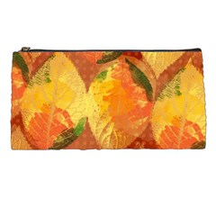 Fall Colors Leaves Pattern Pencil Cases by DanaeStudio