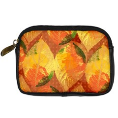 Fall Colors Leaves Pattern Digital Camera Cases by DanaeStudio