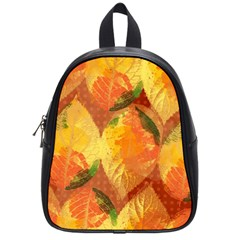 Fall Colors Leaves Pattern School Bags (small)  by DanaeStudio