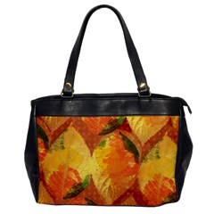 Fall Colors Leaves Pattern Office Handbags by DanaeStudio