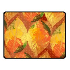 Fall Colors Leaves Pattern Fleece Blanket (small) by DanaeStudio