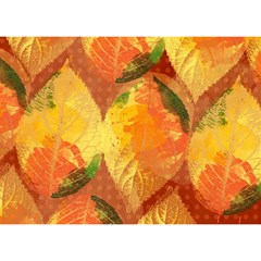 Fall Colors Leaves Pattern Birthday Cake 3d Greeting Card (7x5) by DanaeStudio