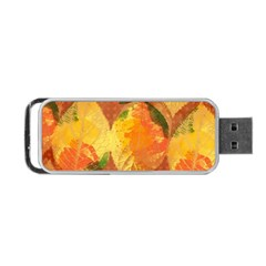 Fall Colors Leaves Pattern Portable Usb Flash (one Side) by DanaeStudio