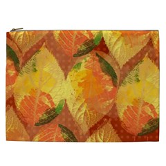Fall Colors Leaves Pattern Cosmetic Bag (xxl)  by DanaeStudio