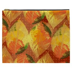 Fall Colors Leaves Pattern Cosmetic Bag (xxxl)  by DanaeStudio
