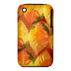 Fall Colors Leaves Pattern Apple Iphone 3g/3gs Hardshell Case (pc+silicone)