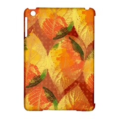 Fall Colors Leaves Pattern Apple Ipad Mini Hardshell Case (compatible With Smart Cover) by DanaeStudio