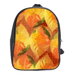 Fall Colors Leaves Pattern School Bags (xl)  by DanaeStudio