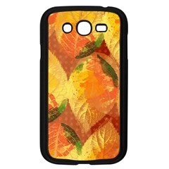 Fall Colors Leaves Pattern Samsung Galaxy Grand Duos I9082 Case (black) by DanaeStudio