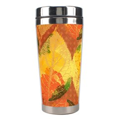 Fall Colors Leaves Pattern Stainless Steel Travel Tumblers by DanaeStudio