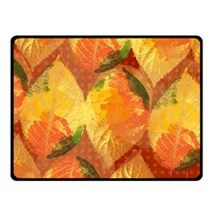 Fall Colors Leaves Pattern Double Sided Fleece Blanket (small)  by DanaeStudio