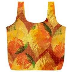 Fall Colors Leaves Pattern Full Print Recycle Bags (l)  by DanaeStudio