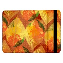 Fall Colors Leaves Pattern Samsung Galaxy Tab Pro 12 2  Flip Case by DanaeStudio