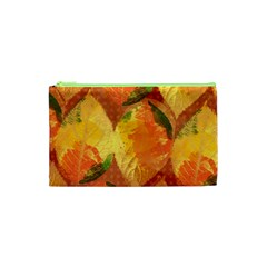 Fall Colors Leaves Pattern Cosmetic Bag (xs) by DanaeStudio