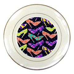 Colorful High Heels Pattern Porcelain Plates
