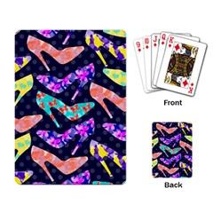 Colorful High Heels Pattern Playing Card