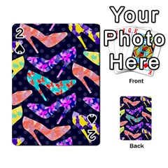 Colorful High Heels Pattern Playing Cards 54 Designs