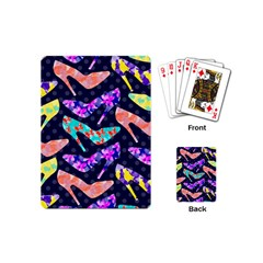 Colorful High Heels Pattern Playing Cards (mini)  by DanaeStudio