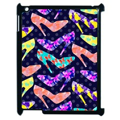 Colorful High Heels Pattern Apple iPad 2 Case (Black)