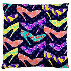 Colorful High Heels Pattern Standard Flano Cushion Case (two Sides) by DanaeStudio