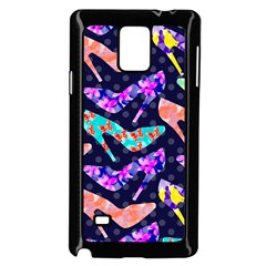 Colorful High Heels Pattern Samsung Galaxy Note 4 Case (Black)