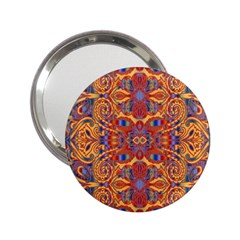 Oriental Watercolor Ornaments Kaleidoscope Mosaic 2.25  Handbag Mirrors