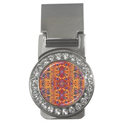 Oriental Watercolor Ornaments Kaleidoscope Mosaic Money Clips (CZ)