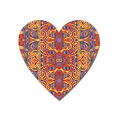 Oriental Watercolor Ornaments Kaleidoscope Mosaic Heart Magnet