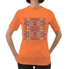 Oriental Watercolor Ornaments Kaleidoscope Mosaic Women s Dark T-Shirt