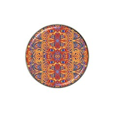 Oriental Watercolor Ornaments Kaleidoscope Mosaic Hat Clip Ball Marker (4 pack)