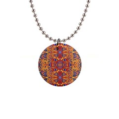 Oriental Watercolor Ornaments Kaleidoscope Mosaic Button Necklaces