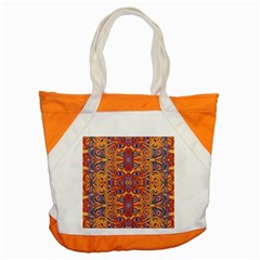 Oriental Watercolor Ornaments Kaleidoscope Mosaic Accent Tote Bag